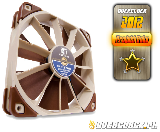 Noctua NF-F12 PWM - Produkt roku 2012, Product of the year 2012