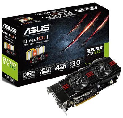4GB RAM w karcie Asus GeForce GTX 670 DC2