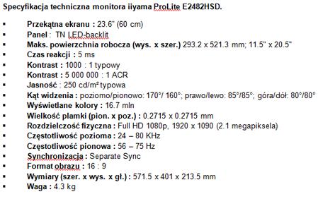 Monitor iiyama Full HD - dla domu i dla biura