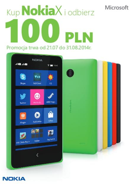 Odbierz 100 zł – Promocja dla właścicieli smartfona Nokia X