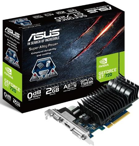 """ASUS przedstawił GeForce GT 720 – kartę graficzną przeznaczoną dla HTPC i SFF"""" title="""