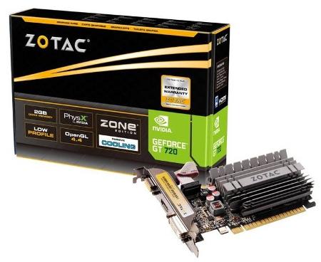 Pasywne GeForce GT 720 od Zotac wyposażone w 1 i 2 GB pamięci