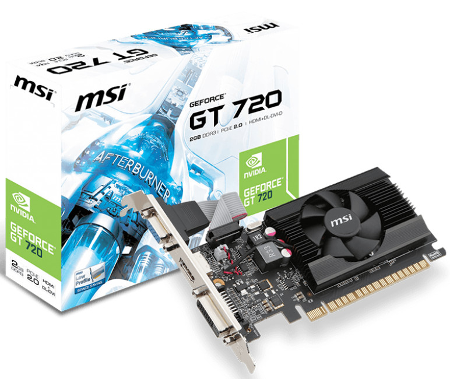 Cztery modele kart graficznych GeForce GT 720 od MSI