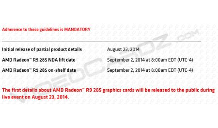 Znamy datę premiery Radeona R9 285
