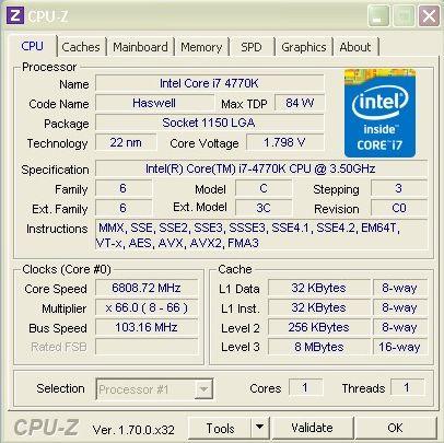 Core i7-4770K ustanawia nowy rekord w PiFast przy taktowaniu 6809 MHz