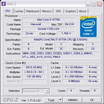 Core i7-4770K bije kolejny rekord. Tym razem wPrime 1024M
