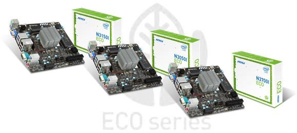 Ekologiczne płyty główne z procesorami Intel Braswell od MSI