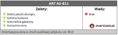 Recenzja głośników bluetooth – ART AS-B11