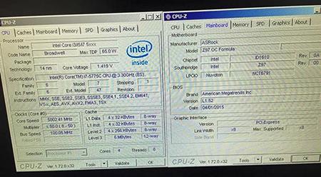 Core i7-5775C podkręcony do 5 GHz przy chłodzeniu powietrzem