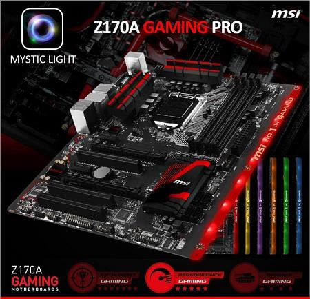 MSI pokazała płytę główną Z170A Gaming Pro (LGA1151)