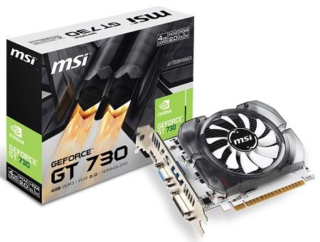 MSI wypuściła kartę GeForce GT 730 4 GB DDR3 V2